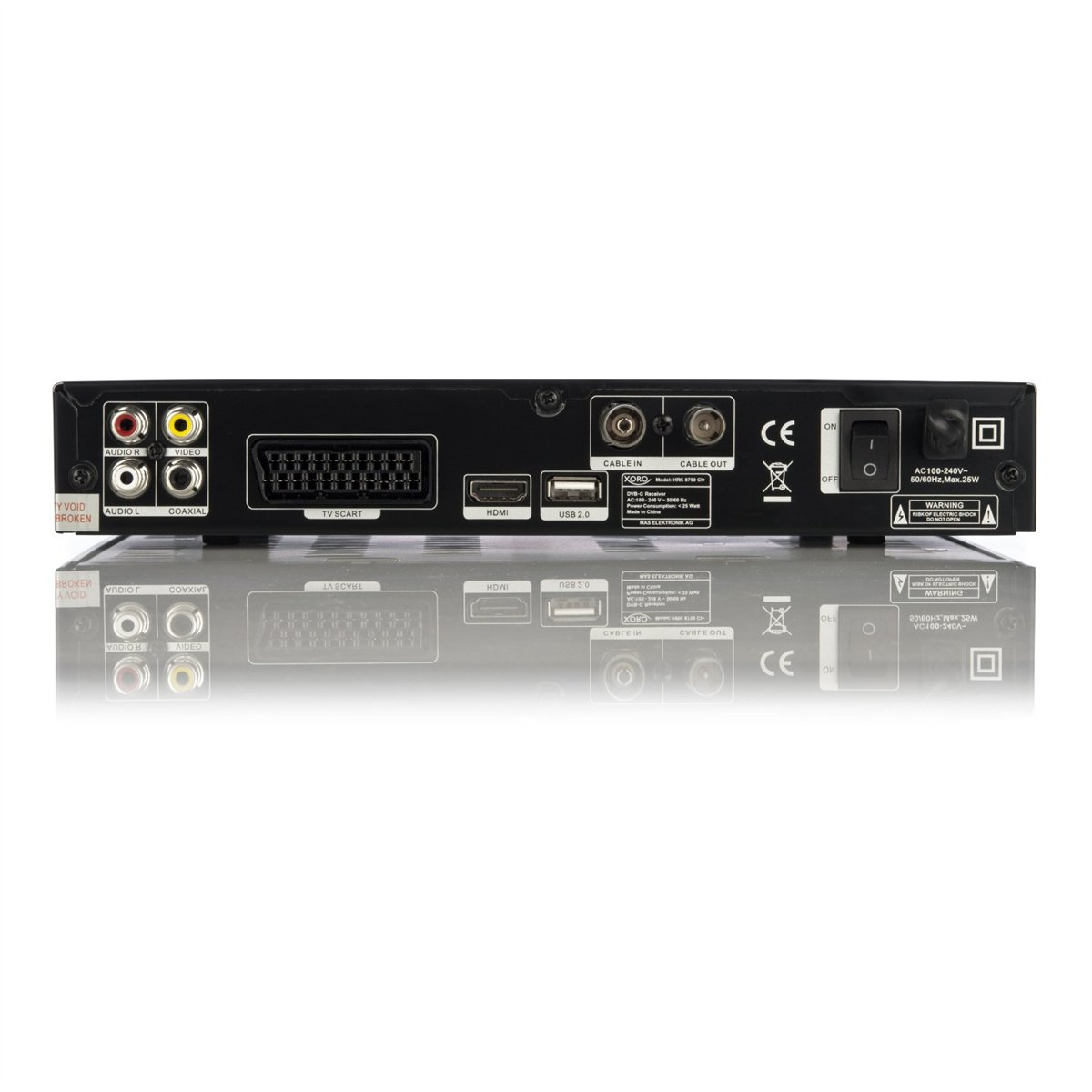 xoro hrk 8750 ci dvb c full hd kabel receiver hdtv hdmi. Black Bedroom Furniture Sets. Home Design Ideas